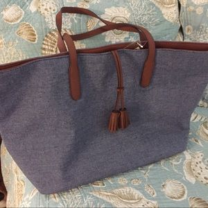 Handbags - Large blue denim Tote